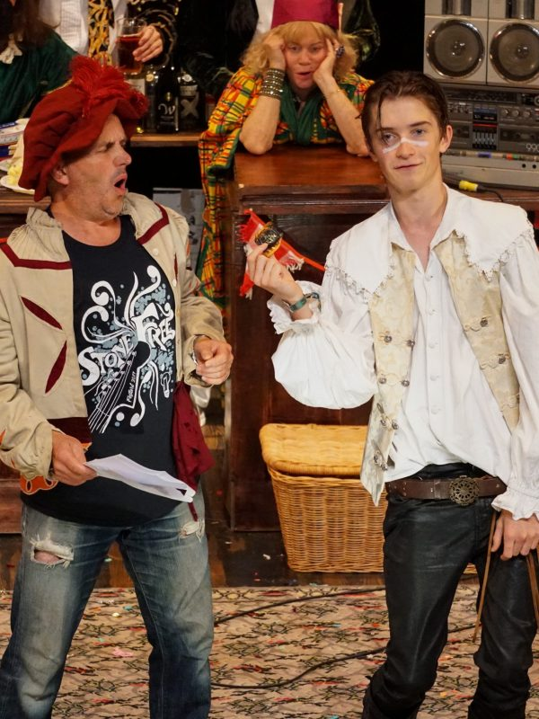 Chris Hollis and Crispin Glancy in The Taming of the Shrew at the Theatre Royal Winchester, 2018