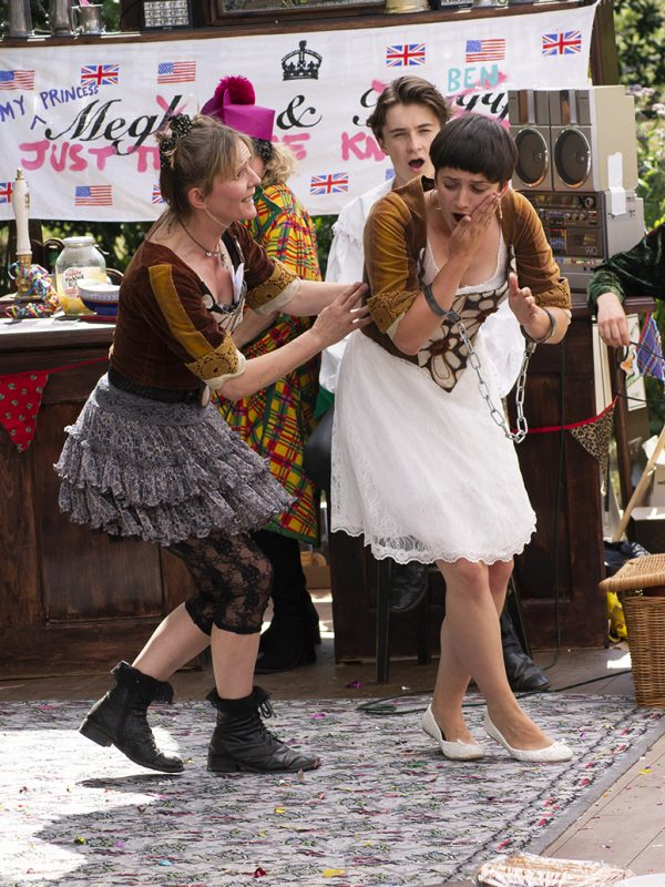 Joy Brook and Molly Ward in The Taming of the Shrew, 2018