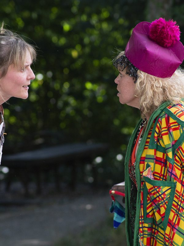 Joy Brook and Paddy Navin in The Taming of the Shrew, 2018