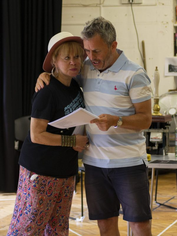 Paddy Navin and Chris Hollis in The Taming of the Shrew Rehearsal, 2018