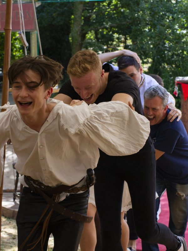 Crispin Glancy, Matthew Headon, Chris Hollis and Harrison Rose in the Taming of the Shrew, 2018